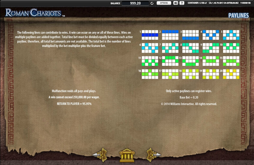 roman chariots slot machine detail image 4