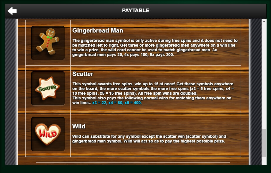 gingerbread joy slot machine detail image 0
