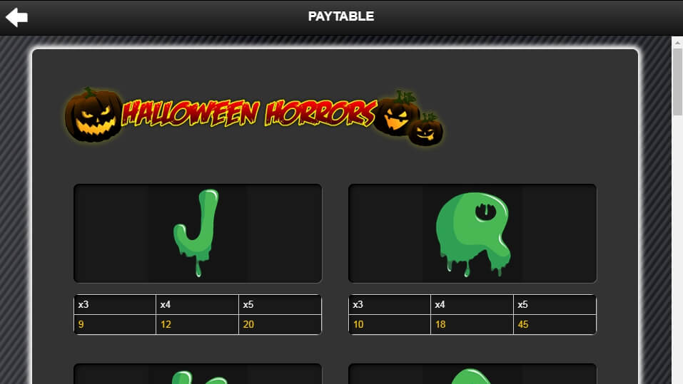 halloween horrors slot slot machine detail image 3