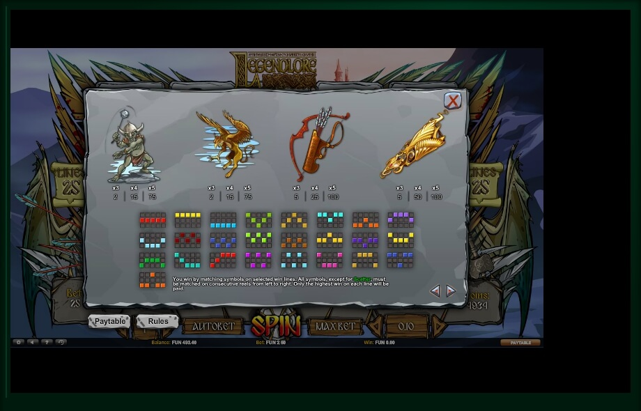 legendlore slot machine detail image 0