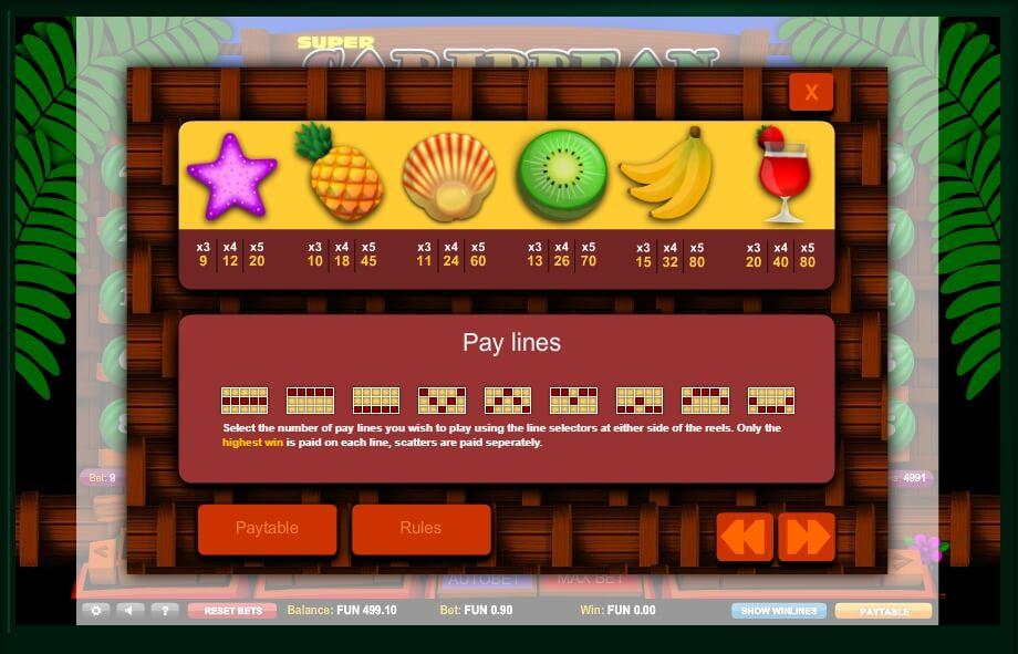 super caribbean cashpot slot slot machine detail image 2