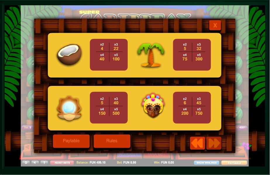 super caribbean cashpot slot slot machine detail image 1