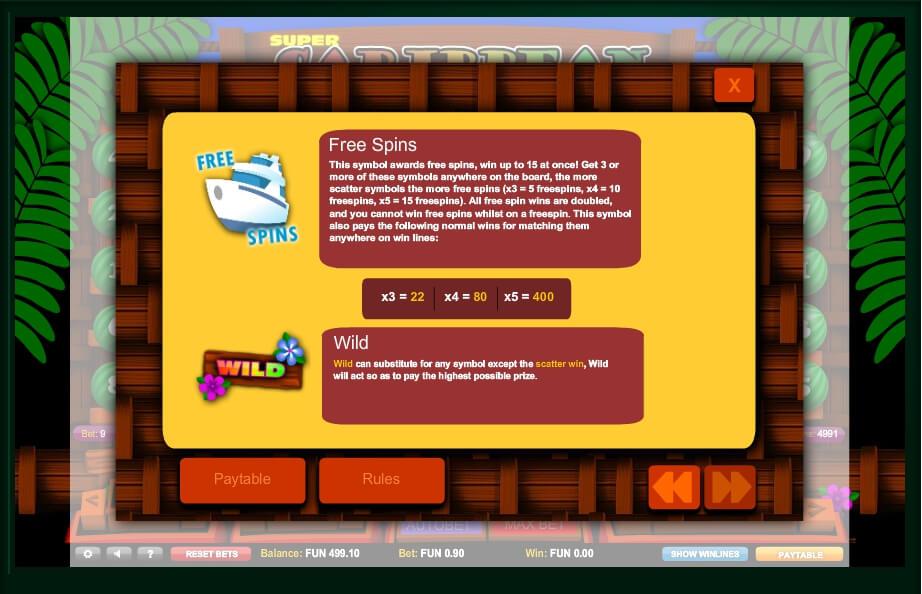 super caribbean cashpot slot slot machine detail image 0