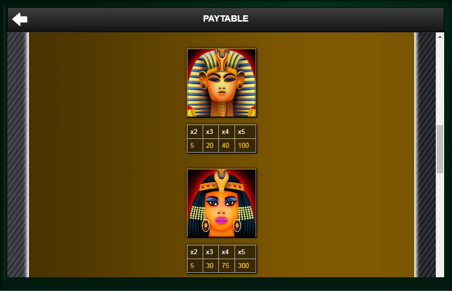 treasure of the pyramids slot slot machine detail image 4
