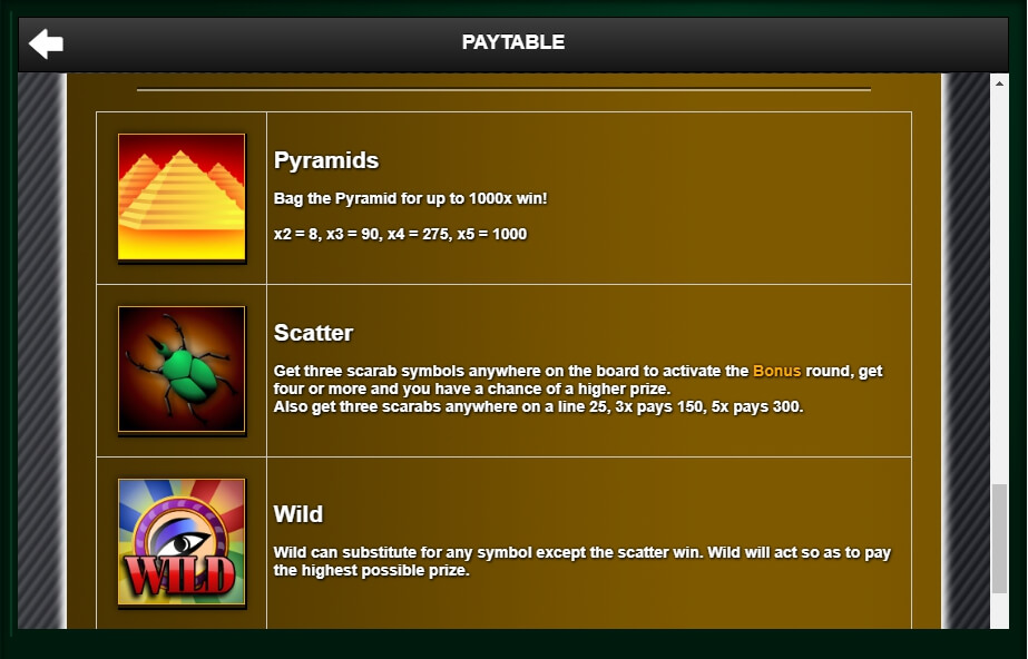 treasure of the pyramids slot slot machine detail image 0