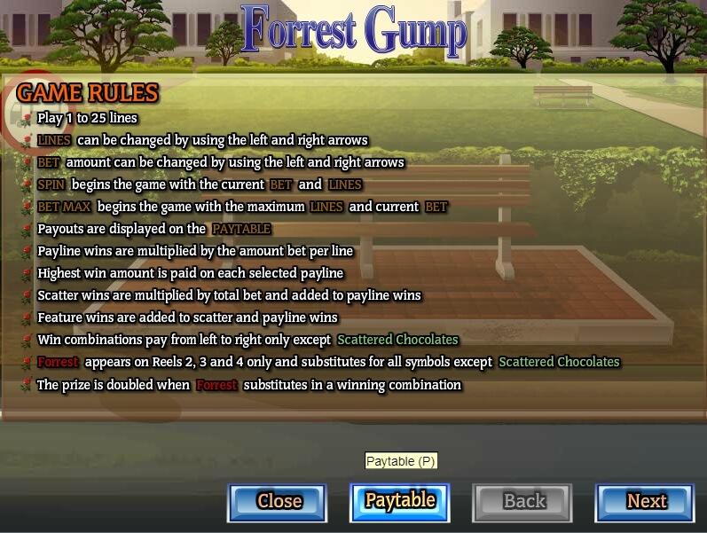 forrest gump slot slot machine detail image 1