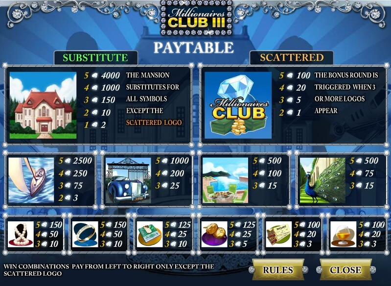 millionaires club 3 slot machine detail image 1