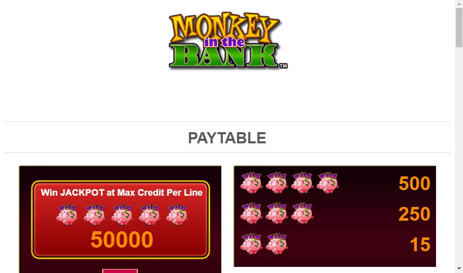 monkey in the bank slot slot machine detail image 6