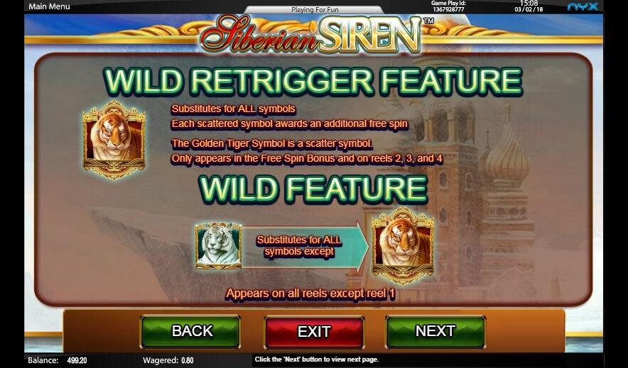 siberian siren slot slot machine detail image 4