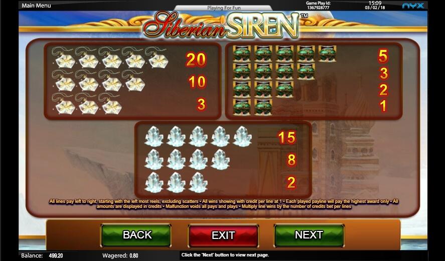 siberian siren slot slot machine detail image 5