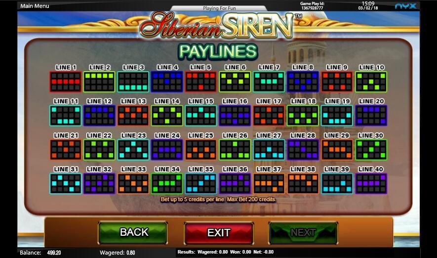 siberian siren slot slot machine detail image 0