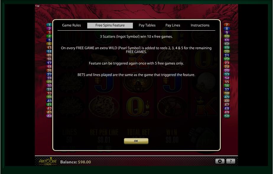 50 dragons slot slot machine detail image 4