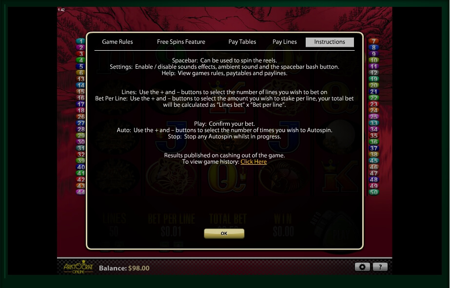 50 dragons slot slot machine detail image 3
