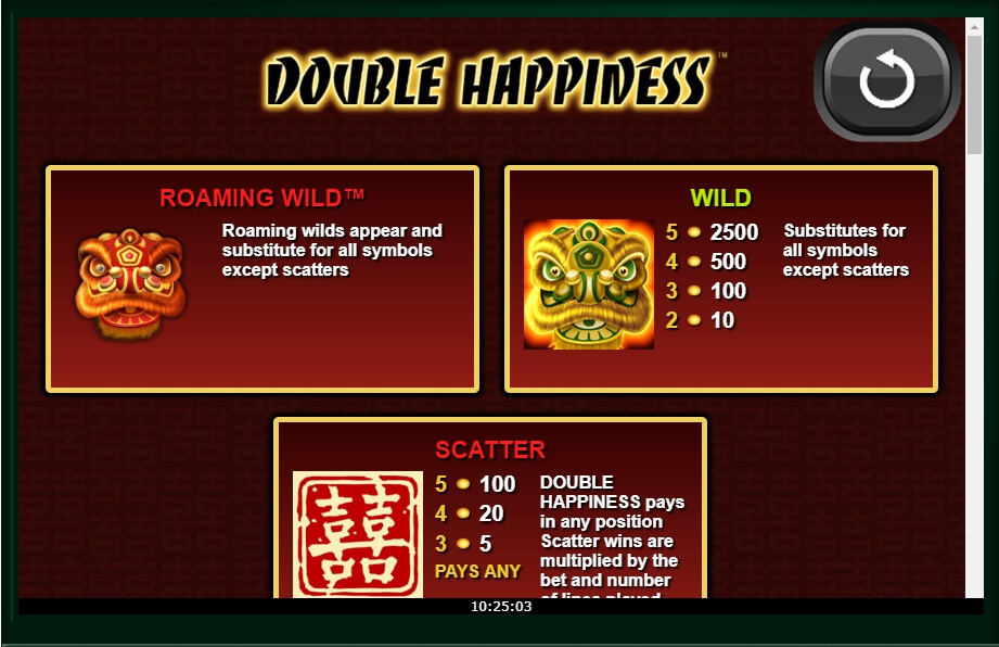double happiness slot machine detail image 0
