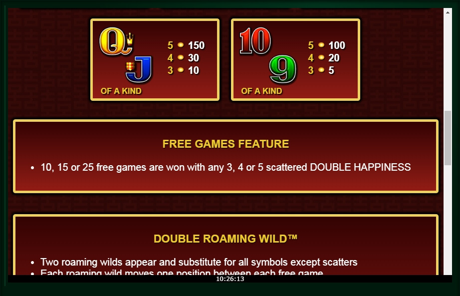 double happiness slot machine detail image 3