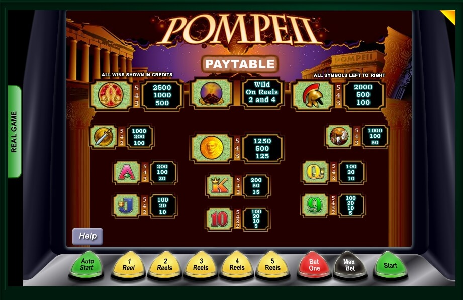 pompeii slot machine detail image 0