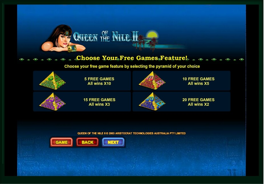 queen of the nile ii slot machine detail image 5
