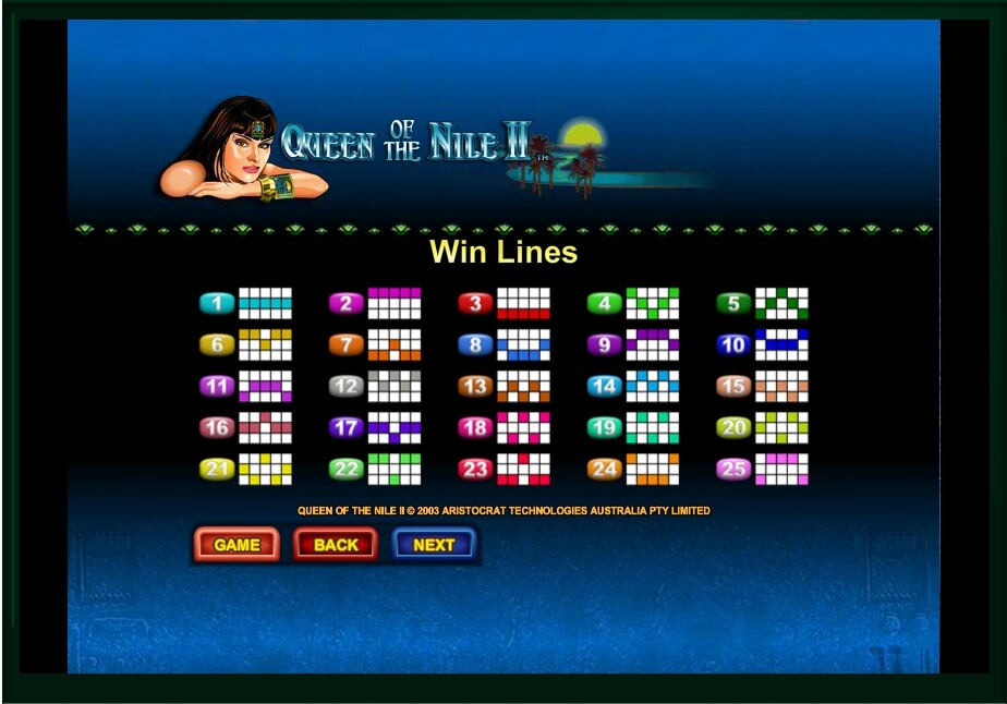 queen of the nile ii slot machine detail image 4