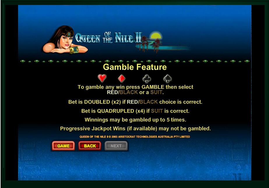 queen of the nile ii slot machine detail image 1