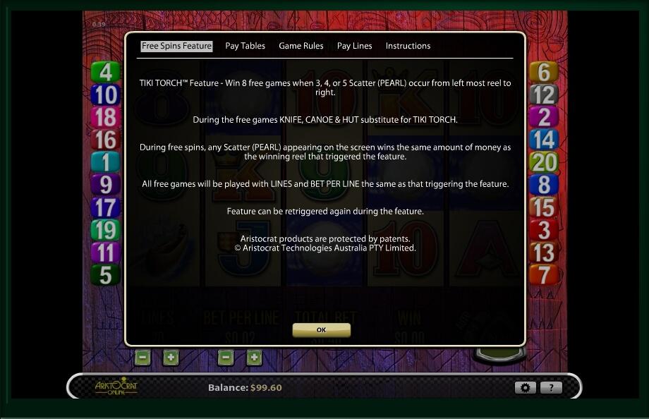 tiki torch slot machine detail image 4