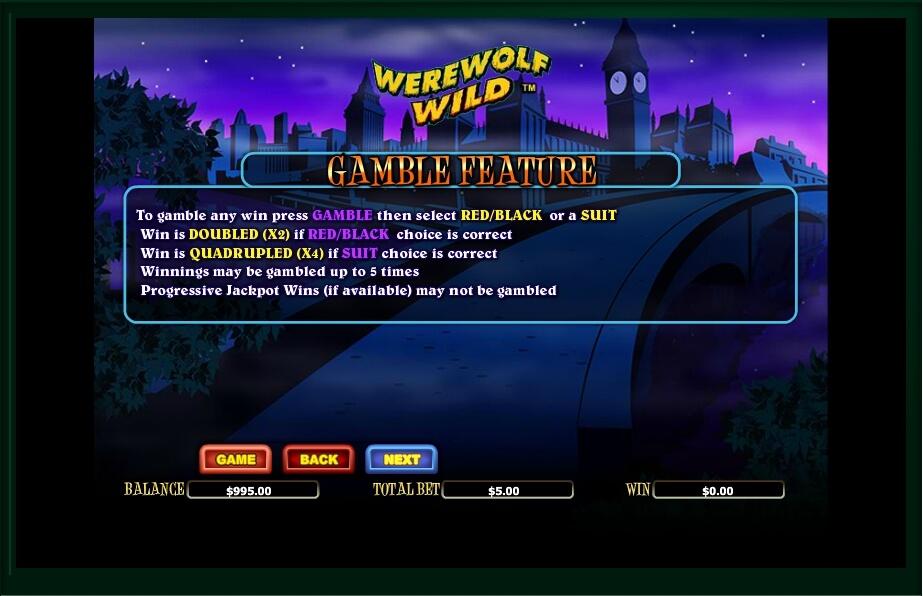 werewolf wild slot machine detail image 5