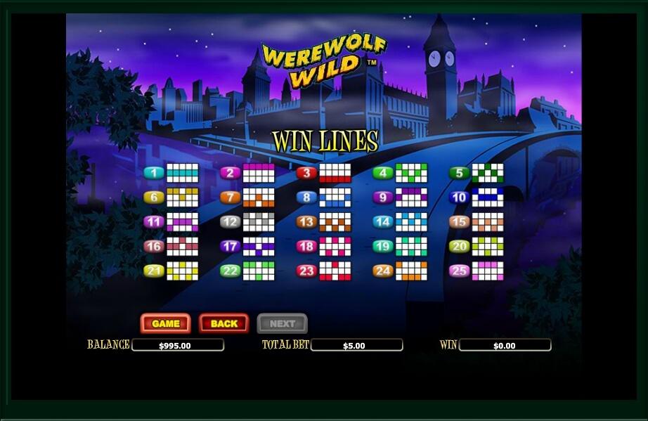 werewolf wild slot machine detail image 1