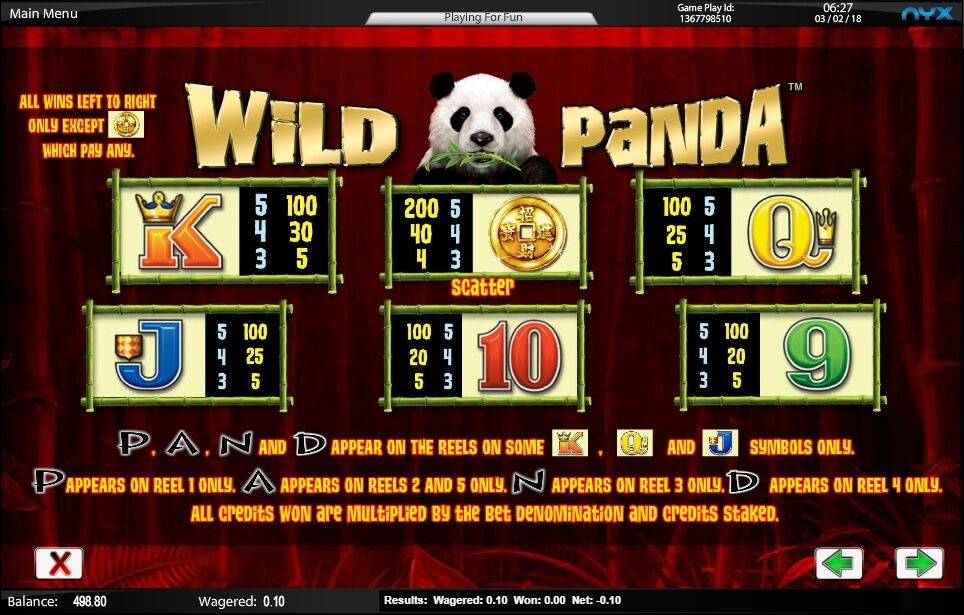 wild panda slot slot machine detail image 5