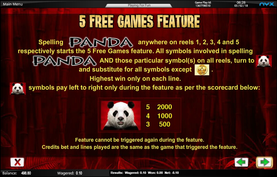 wild panda slot slot machine detail image 0