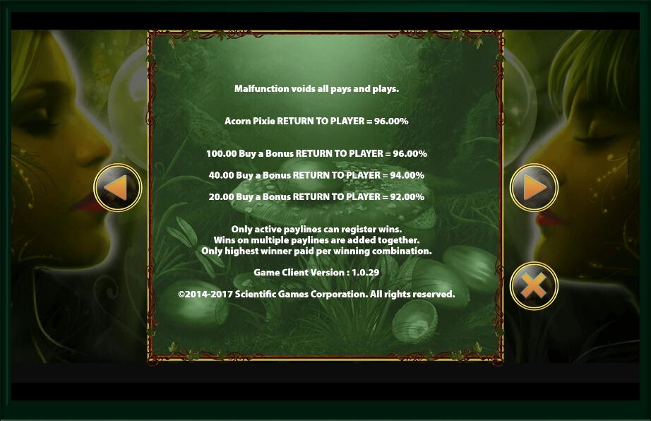 acorn pixie slot slot machine detail image 2