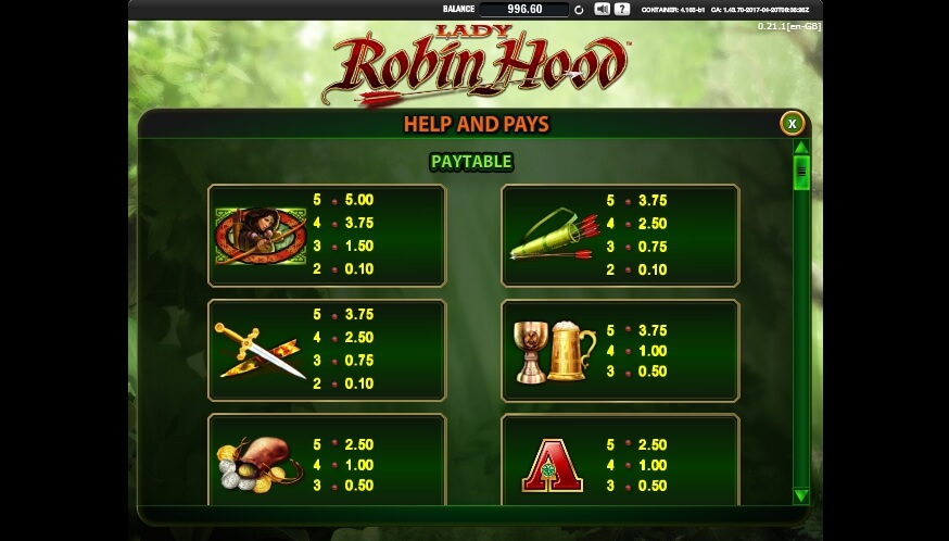 lady robin hood slot slot machine detail image 5