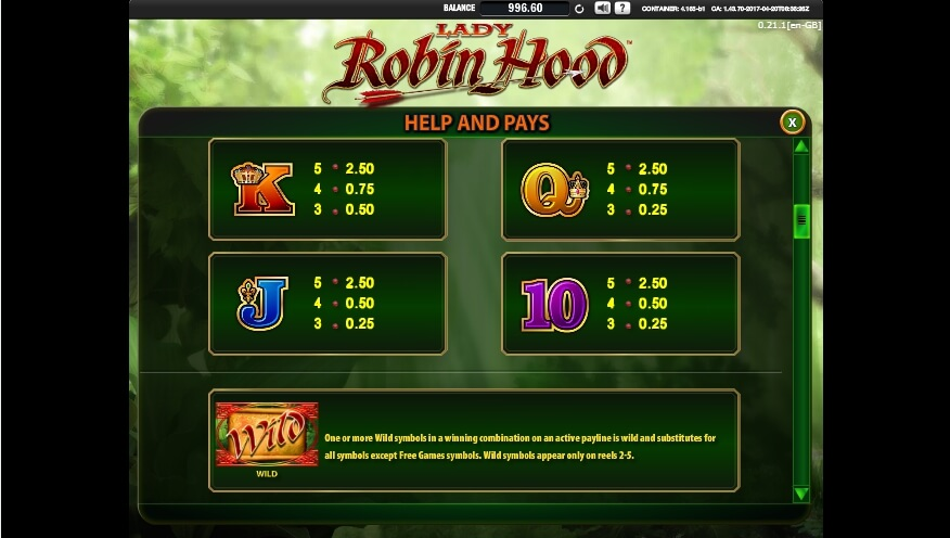 lady robin hood slot slot machine detail image 6