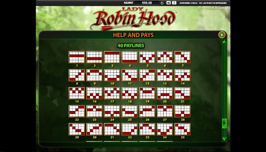 lady robin hood slot slot machine detail image 3