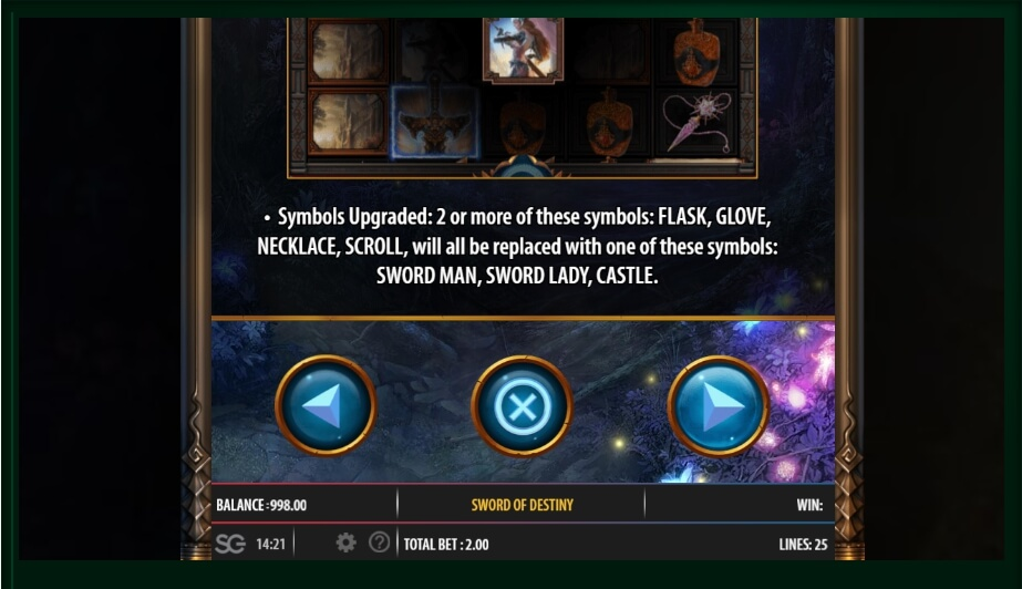 sword of the destiny slot machine detail image 10