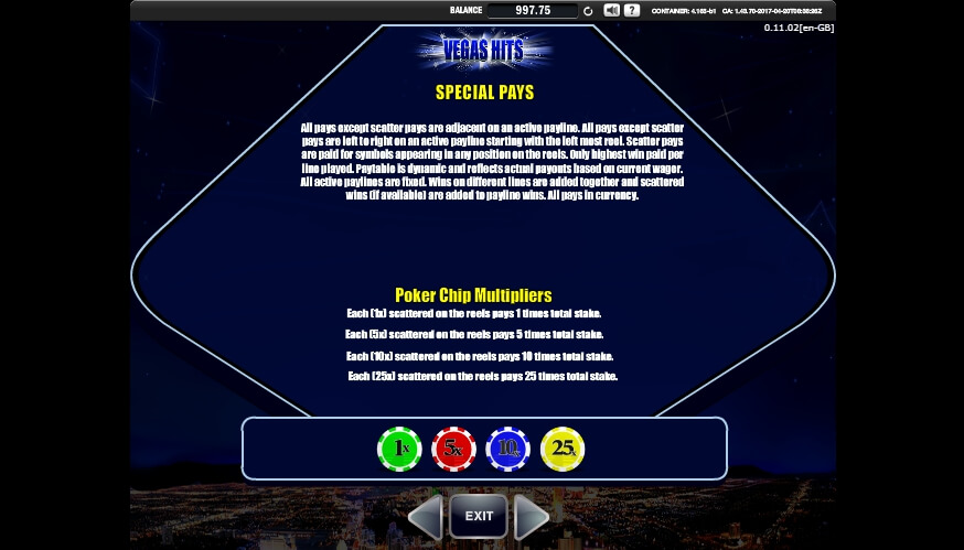 vegas hits slot slot machine detail image 2