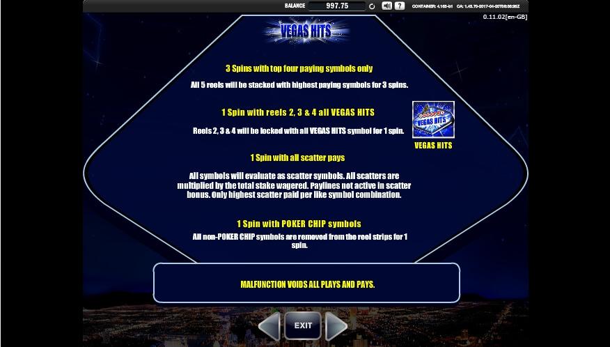 vegas hits slot slot machine detail image 5