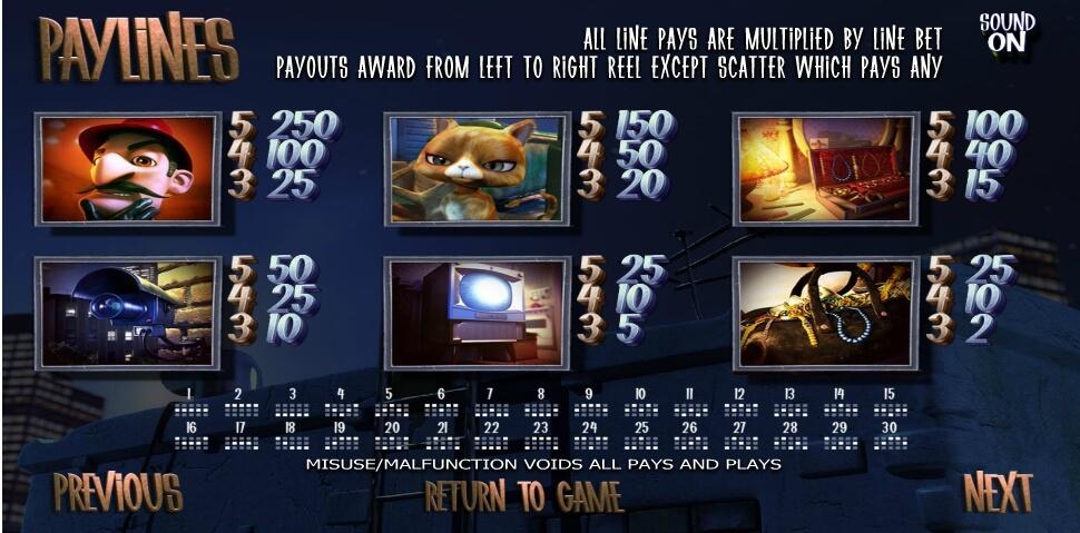 after night falls slot slot machine detail image 1
