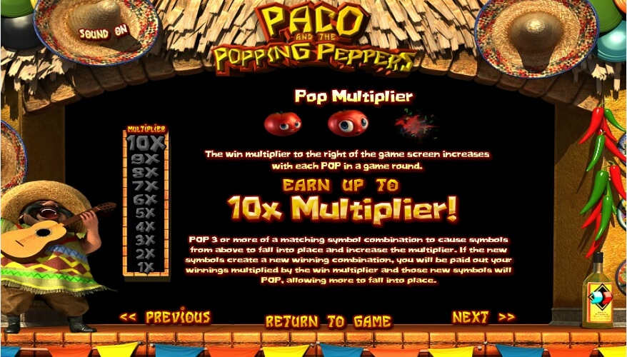 paco and the popping peppers slot slot machine detail image 1