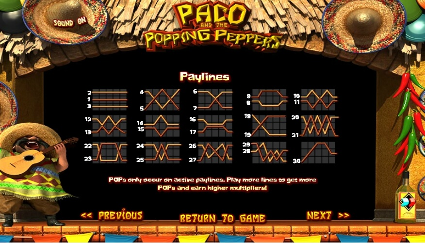 paco and the popping peppers slot slot machine detail image 2