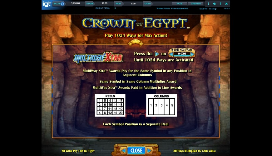 crown of egypt slot slot machine detail image 6