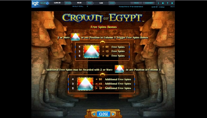 crown of egypt slot slot machine detail image 7