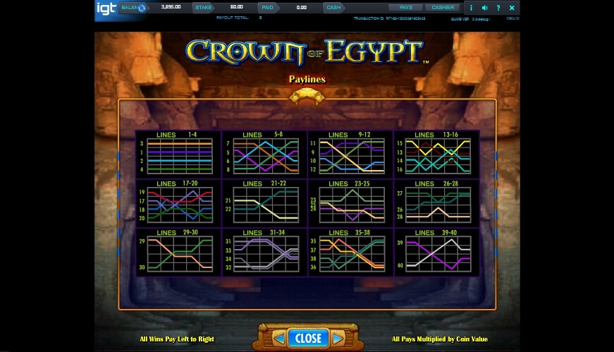 crown of egypt slot slot machine detail image 1