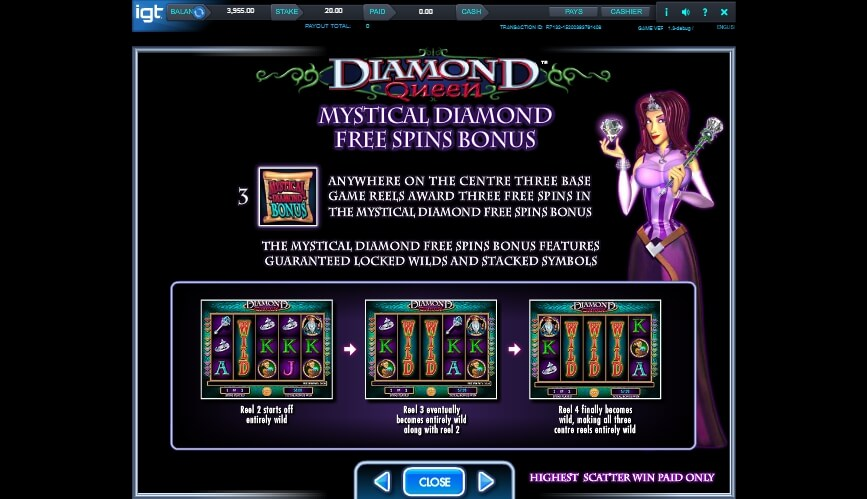 diamond queen slot slot machine detail image 1