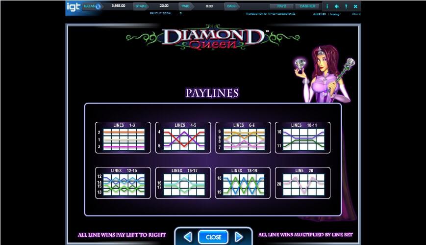 diamond queen slot slot machine detail image 3