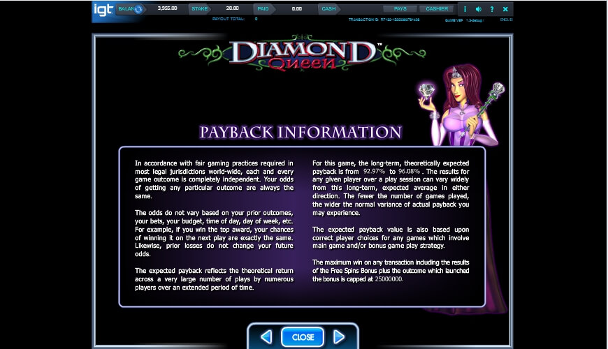 diamond queen slot slot machine detail image 0