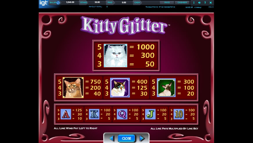 kitty glitter slot slot machine detail image 4