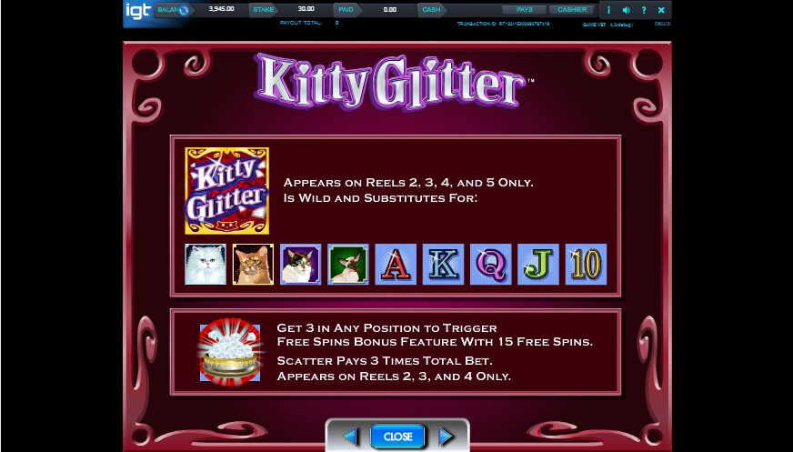 kitty glitter slot slot machine detail image 3