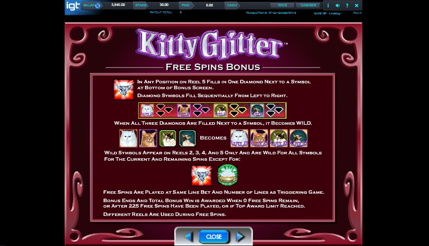 kitty glitter slot slot machine detail image 1