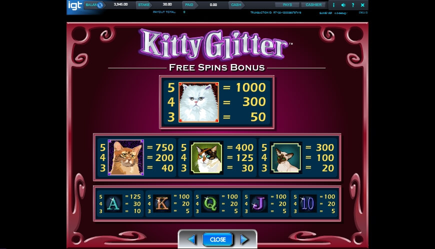 kitty glitter slot slot machine detail image 2
