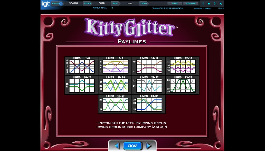 kitty glitter slot slot machine detail image 6