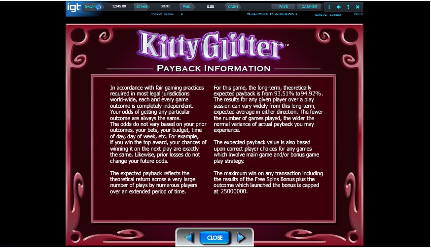 kitty glitter slot slot machine detail image 0